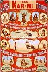 C.1899 Kar-mi Circus Sword Swallowing Side Show
