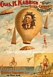 C.1896 Chas. H. Kabrich, Only Bike-chute Act - Circus