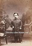 C.1875 Midget In Uniform Side Show - Circus Photo