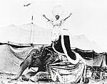 1923 Woman On Elephant, Al G. Barnes Circus - Photo