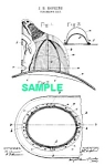 Patent Art: 1880s Fire Helmet - Matted