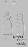 1930s Cream Top Cop Top Milk Bottle Patent