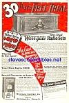 1927 Westgale Wooden Radio Mag. Ad