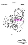 Patent Art: 1950s R. Loewy Lucite Radio - Matted