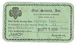 1936 Girl Scout Membership Card