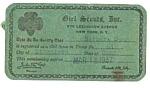 1937 Girl Scout Membership Card