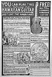 1924 Hawaiian Guitar Music Room Ad