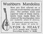 1918 Washburn Mandolins Music Room Ad