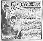 1915 Gibson Guitar/mandolin Music Room Ad