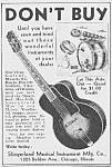 1937 Slingerland Guitar/drums Ad