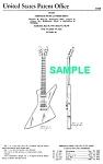 Patent Art: 1958 Explorer Gibson Guitar - Matted