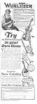 1929 Wurlitzer Saxophone-clarinet+ Music Room Ad