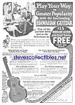 1926 Hawaiian Guitar Music Room Ad