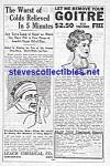 1914 Quack Cure Ad Page - Colds - Goitre