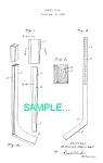 Patent Art: 1936 Hockey Stick-matted