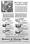 1930 Brown & Sharpe Tool Ad/micrometers