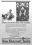 1927 Starrett Tool Ad - Art Deco