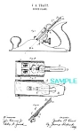 Patent Art: 1880s Stanley Bench Plane - Matted