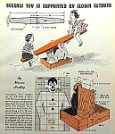 1959 Build A Clown Seesaw Rider Mag. Article