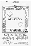 Patent Art: 1930s 1st Monopoly Game - Matted