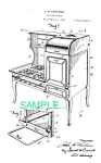 Patent Art: 1920s Hubley Toy Cast Iron Stove