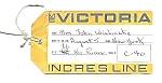 1965 Incres Line Ms Victoria Ocean Liner Tags