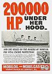 1937 Queen Mary Ocean Liner Mag. Ad