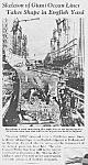 1938 Queen Mary Cunard Ocean Liner Mag Article