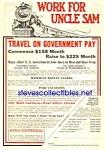 1926 Railway - Railroad Postal Clerk Ad