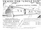 1935 Railway - Railroad Postal Clerk Ad