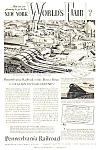 1939 Penn Railroad Ny Worlds Fair Magazine Ad