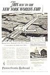 1939 Penn Railroad Ny Worlds Fair Magazine Ad B