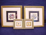 Set Of (4) Contemporary Floral Prints