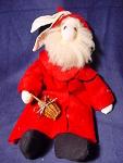 Stuffed Santa Rabbit Doll By Lala Of Lodge Creek