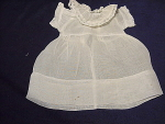 Vintage Cotton Voile Doll Dress W/ Lace Trim