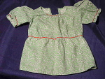 Vintage Homemade Cotton Print Doll Dress Blouse