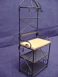 Miniature Metal Dollhouse Bakers Rack