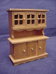 Miniature Wood Dollhouse Sideboard China Hutch