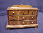 Miniature Dollhouse Bureau Chest Of Drawers