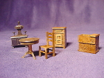Set Of Dollhouse Mini Miniature Plastic Furniture