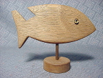 Wooden Fish On A Stand