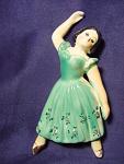 Vintage Ballerina Figural Wall Figurine