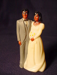 Bride Groom Wedding Cake Topper Figurine