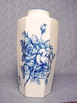 Lovely Cobalt Rose Pattern Vase