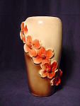 Dogwood Blossoms Pottery Vase