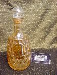 Vintage Gold Luster Thumbprint Decanter
