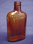 Brown Full 1/2 Pint Whiskey Bottle