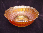 Fenton Stippled Rays Carnival Glass Footed Bowl