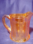 Vintage Imperial Carnival Glass Diamond Point Column Creamer