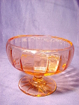 Imperial Glass Co. Wide Panel Optic Footed Bowl